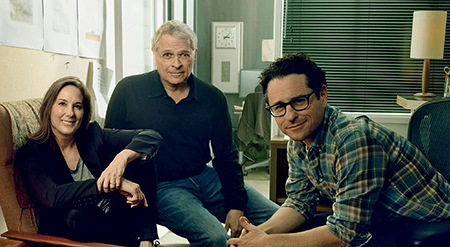 John-Williams-Kathleen-Kennedy-Lawrence-Kasdan-J.J.-Abrams-behind-the-scenes-on-Star-Wars-The-Force-Awakens