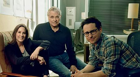 John-Williams-Kathleen-Kennedy-Lawrence-Kasdan-J.J.-Abrams-behind-the-scenes-on-Star-Wars-The-Force-Awakens