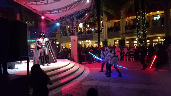 Brady confronts Darth Vader! Picture: Everglades Squad Fan Page