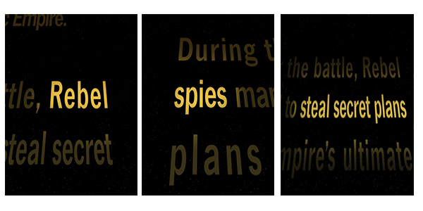 From the opening crawl of A New Hope